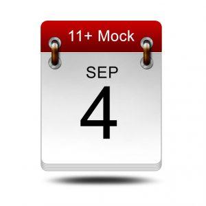 Eleven Plus Mock<br />4 September 2021<br />14:00 – 16:00